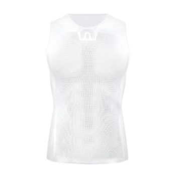 Megmeister Mens Drynamo Cycling Sleeveless Base Layer White L/XL