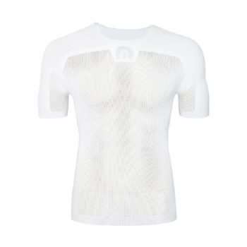 Megmeister Mens Drynamo Cyclings Short Sleeve Base Layer White S/M