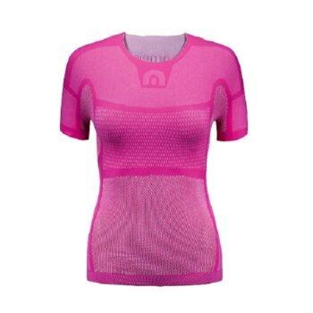 Megmeister Drynamo Womens Cycling Short Sleeve Base Layer Pink XS/S