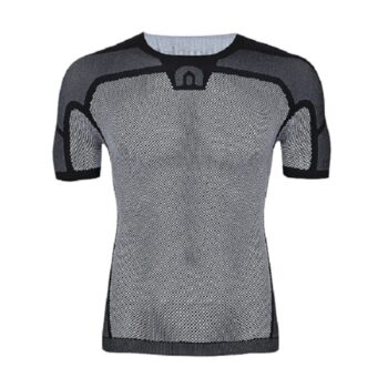 Megmeister Mens Drynamo Cyclings Short Sleeve Base Layer Black S/M
